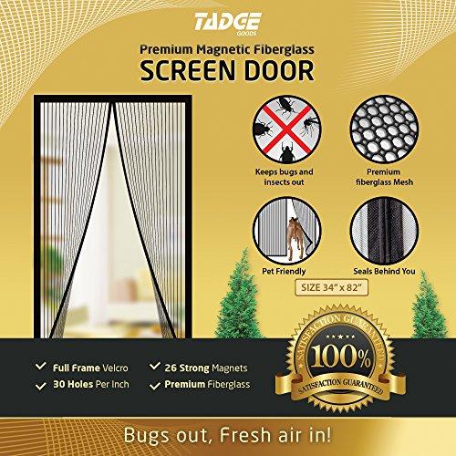 Magnetic Mesh Bug Screen Door Strong Magnets Fiberglass